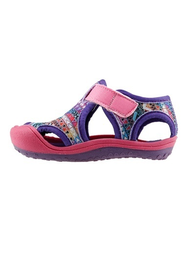 Ayakland Ayakland Kids Desenli Aqua Kız Çocuk  Sandalet Panduf Ayakkabı Pembe